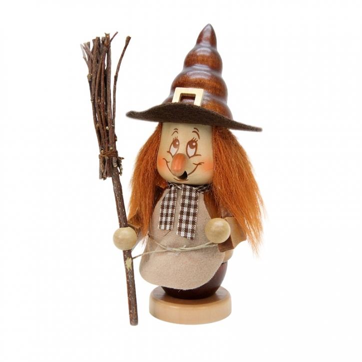 Smoking figure <br>»Miniature gnome - Witch« <br>16cm