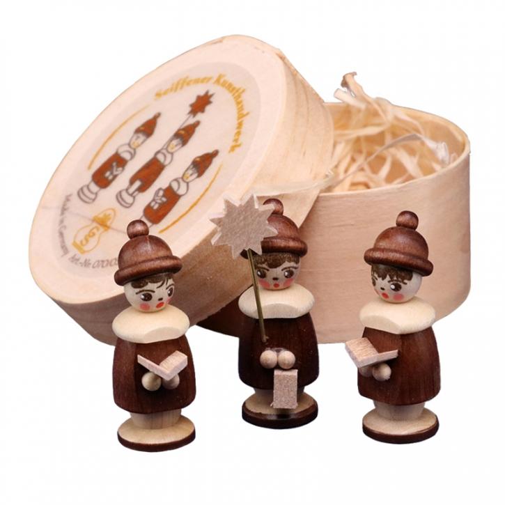 Miniaturen in Spandose <br>»3 Kurrendefiguren - natur«