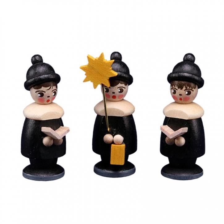 Miniaturen in Spandose <br>»3 Kurrendefiguren -  schwarz«