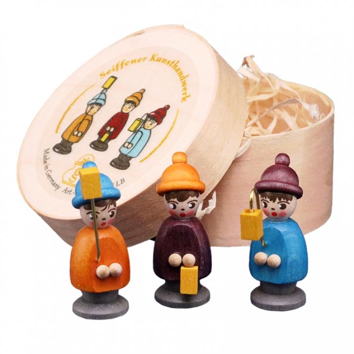 Miniaturen in Spandose <br>»3 Laternenkinder - bunt«