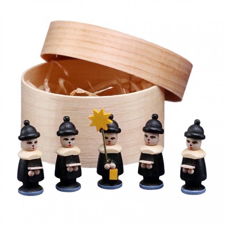 Miniaturen in Spandose <br>»5 Kurrendefiguren - schwarz«