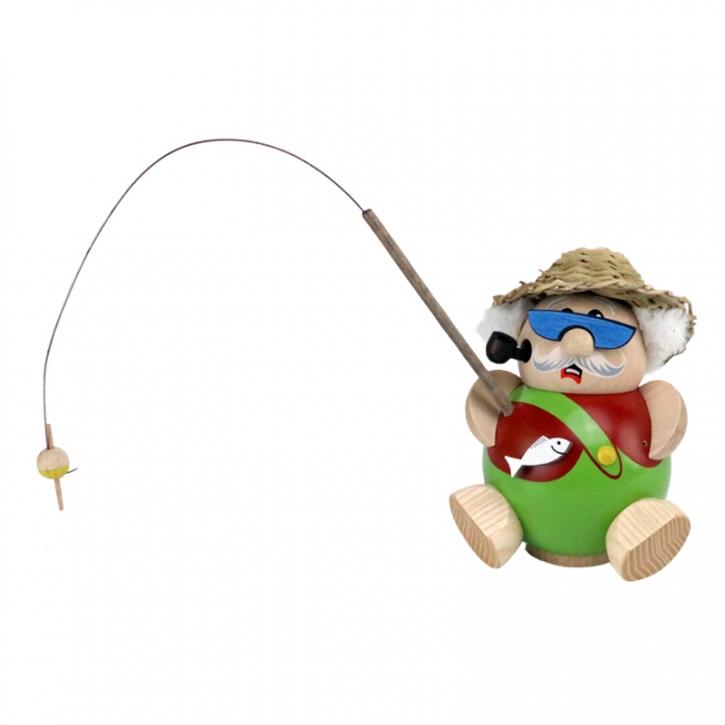 Kugelräucherfigur <br>»Angler« <br>10 cm