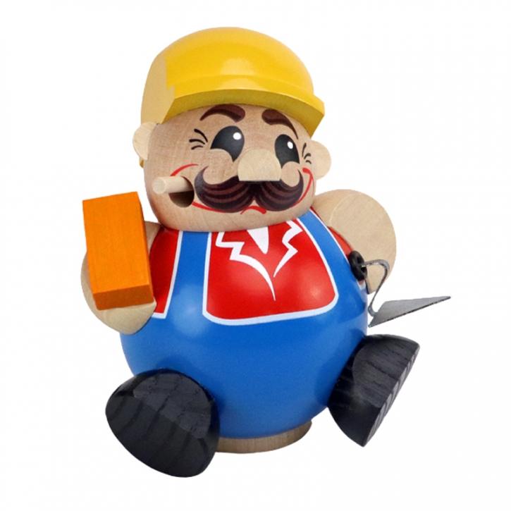 Kugelräucherfigur <br>»Bauarbeiter« <br>11 cm