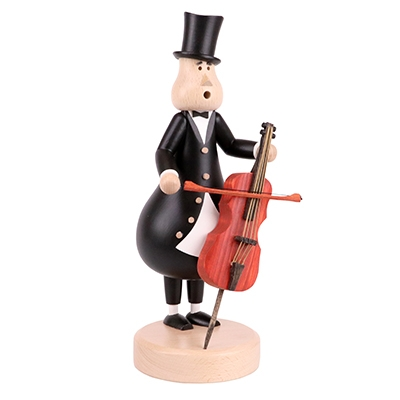 Smoking figure <br>»Cello player Johann« <br>27cm