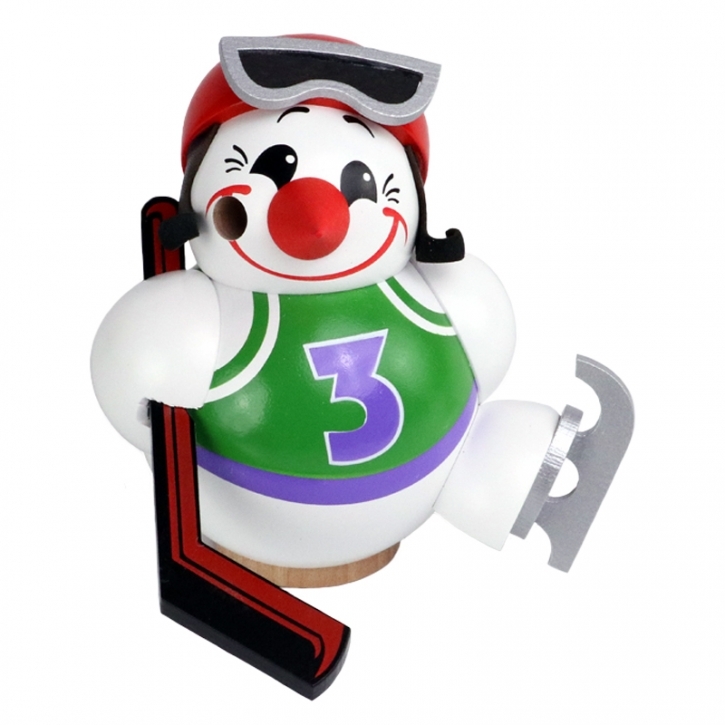 Kugelräucherfigur <br>»Cool Man Eishockeyspieler« <br>11 cm