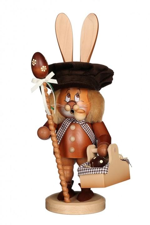 Räuchermännchen <br>»Wichtel - Hase mit Eierkorb« <br>36 cm