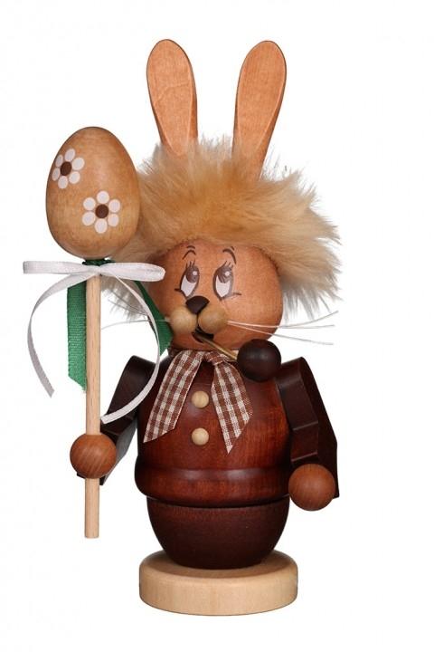 Räuchermännchen <br>»Miniwichtel Hase mit Stab« <br>16 cm