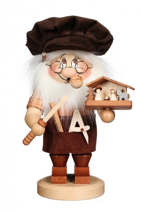 Smoking figure <br>»Dwarf Carver of nativity figurines« <br>27,5cm