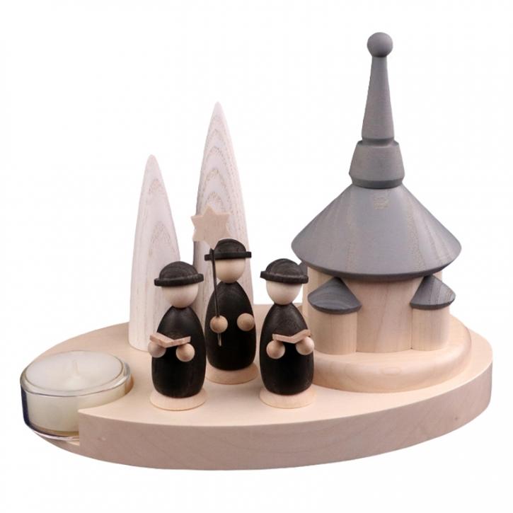 Teelichthalter <br>»LIGNULUM Occento - mono«