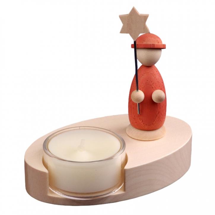 Teelichthalter <br>»LIGNULUM Sidus - salmar«