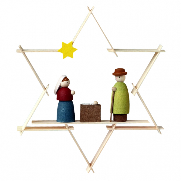 Star-shaped tree ornament <br>»Mary and Joseph«
