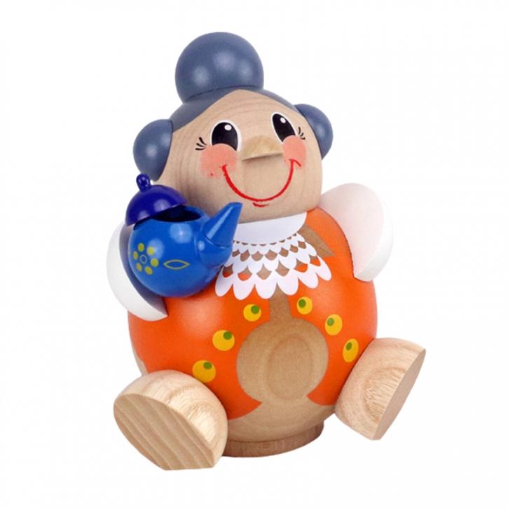 Kugelräucherfigur <br>»Oma mit Teekessel« <br>11 cm