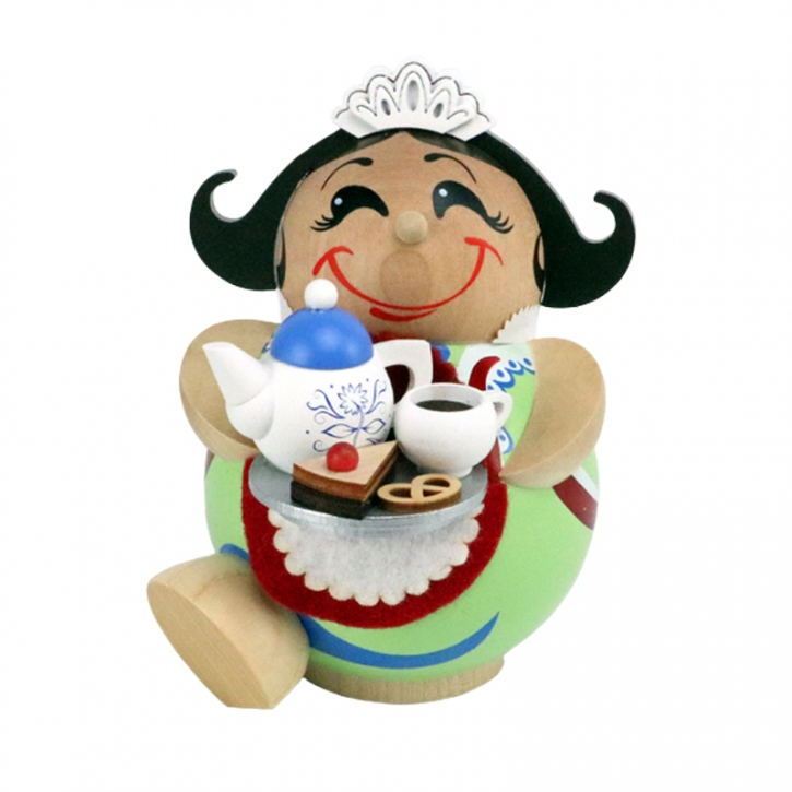 Kugelräucherfigur <br>»Schokoladenmädchen« <br>11 cm