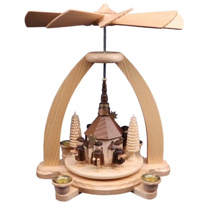 Tischpyramide <br>»Kurrende und Seiffener Kirche«