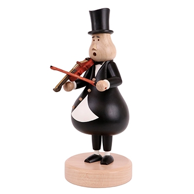Smoking figure <br>»Violin player Karl-Friedrich« <br>25cm