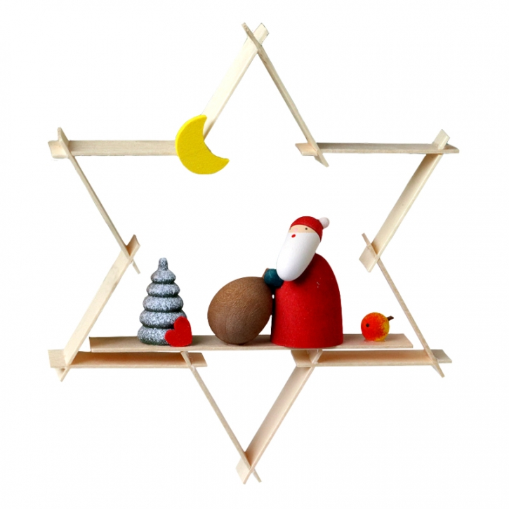 Star-shaped tree ornament <br>»Father Christmas«