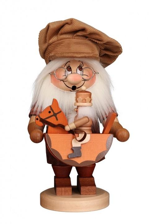 Smoking figure <br>»Gnome - rocking-horse« <br>28,5cm