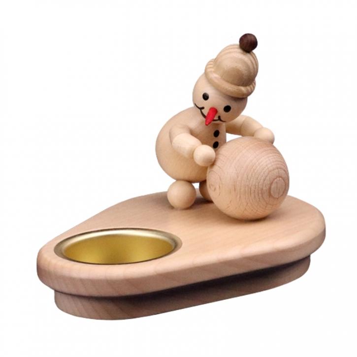 Schneemannleuchter <br>»Junior mit Schneekugel« <br>10cm