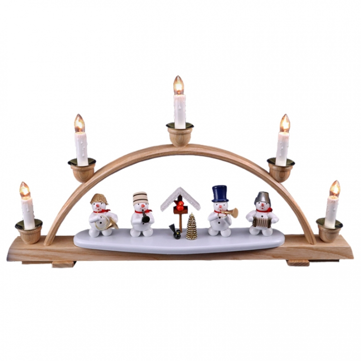 Christmas arch with snowmen <br>»Musicians« <br>28cm