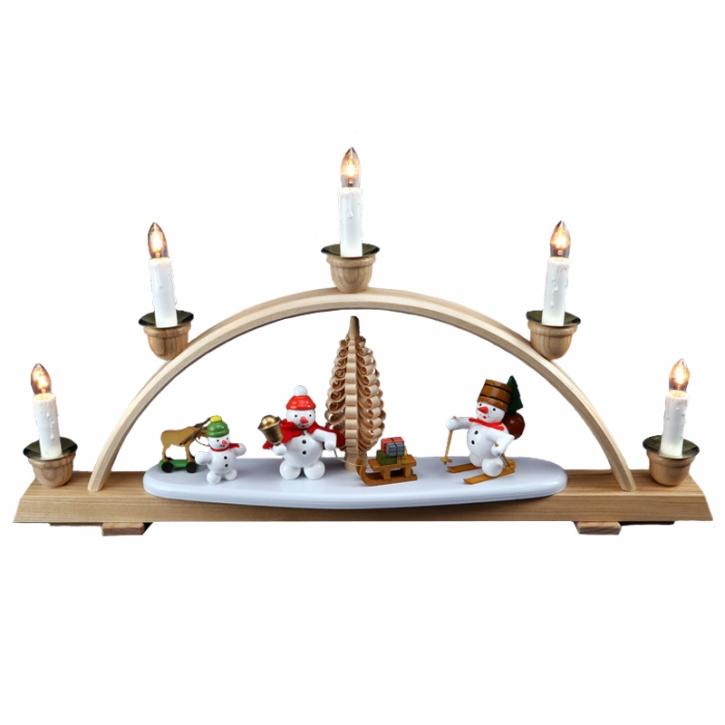 Christmas arch with snowmen <br>»Christmas« <br>28cm