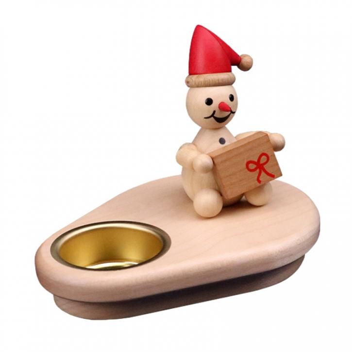 Schneemannleuchter <br>»Junior mit roter Mütze« <br>10cm