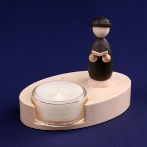 Teelichthalter <br>»LIGNULUM Codex - schwarz«